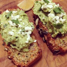 The paleo veggie bread with avocado and feta smash: A definite winner for breakfasts and lunches