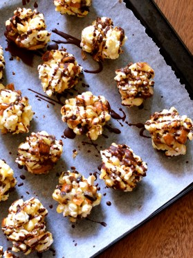 Choc-Toffee Popcorn Clusters