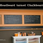 Habitat ReStore Headboard turned Chalkboard