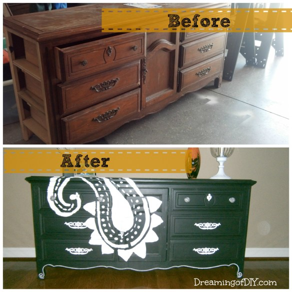 Before and After Trash to Treasure