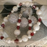 Snowballs and Holly Berries – Christmas Jewelry