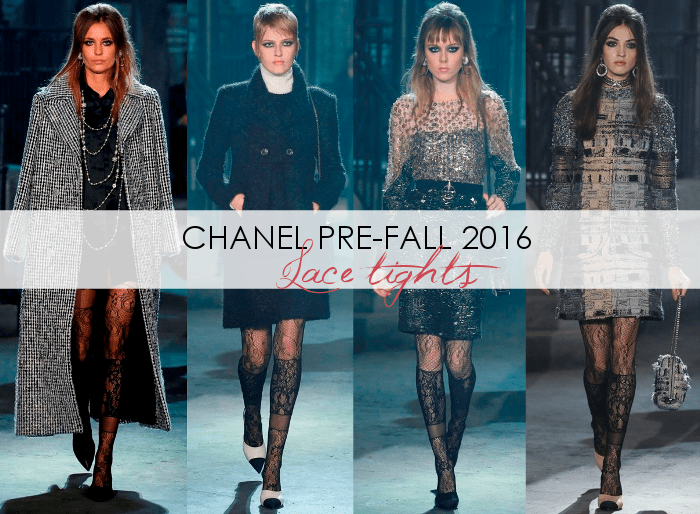 Chanel Pre-Fall 2016 Fashion Runway - Lace Tights