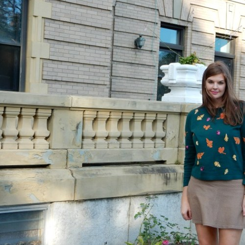 Sweater Weather with Talbots - Falling Leaves Sweater Outfit