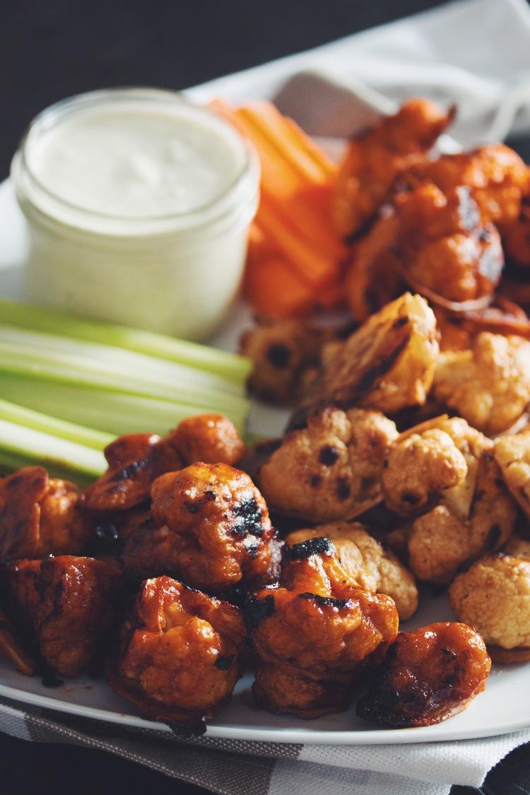 Buffalo Cauliflower Wings by Hot for Food - Vegan