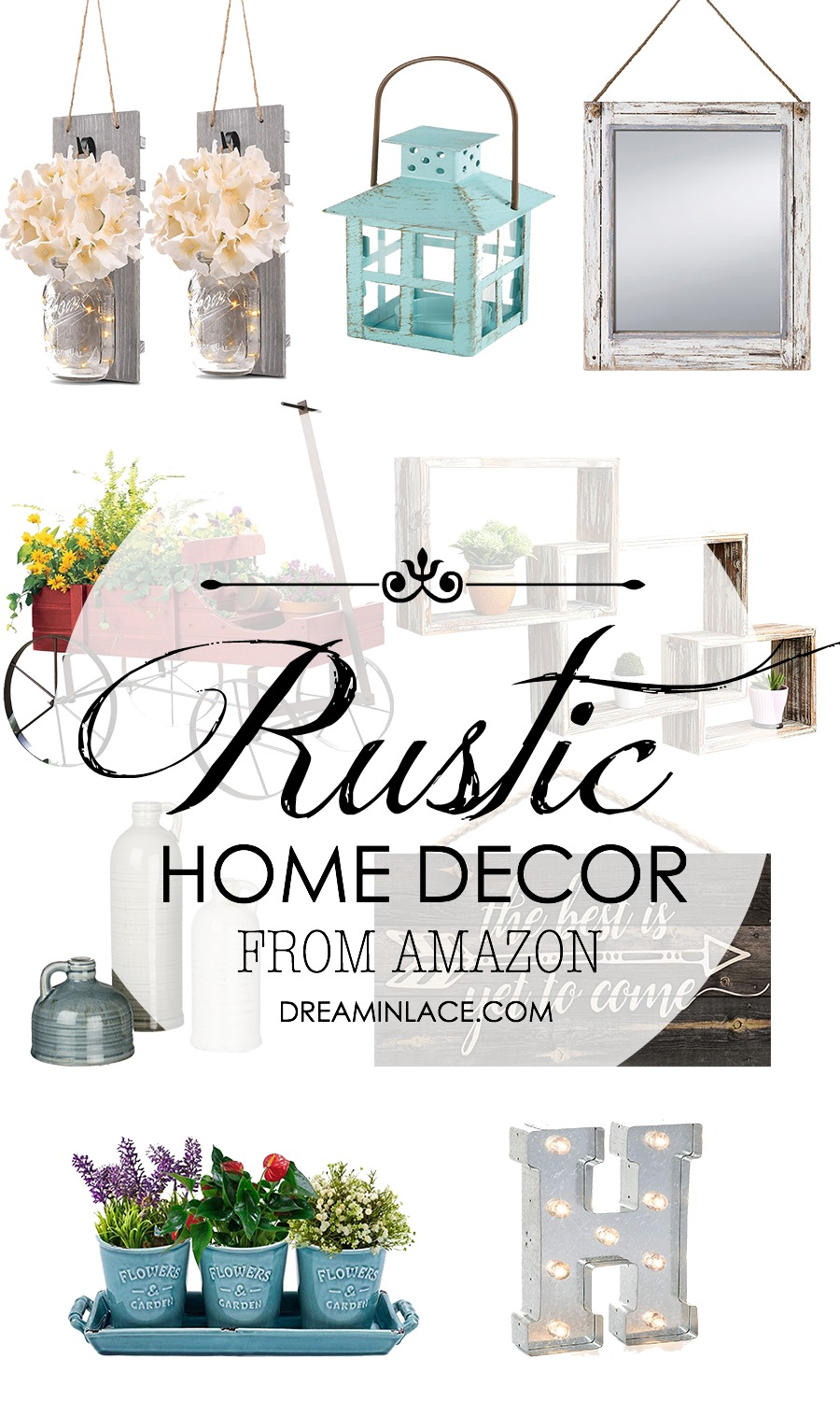 Rustic Home Decor Picks from Amazon I DreaminLace.com #HomeDecor #Rustic #AffordableHomeDecor #BudgetDecor