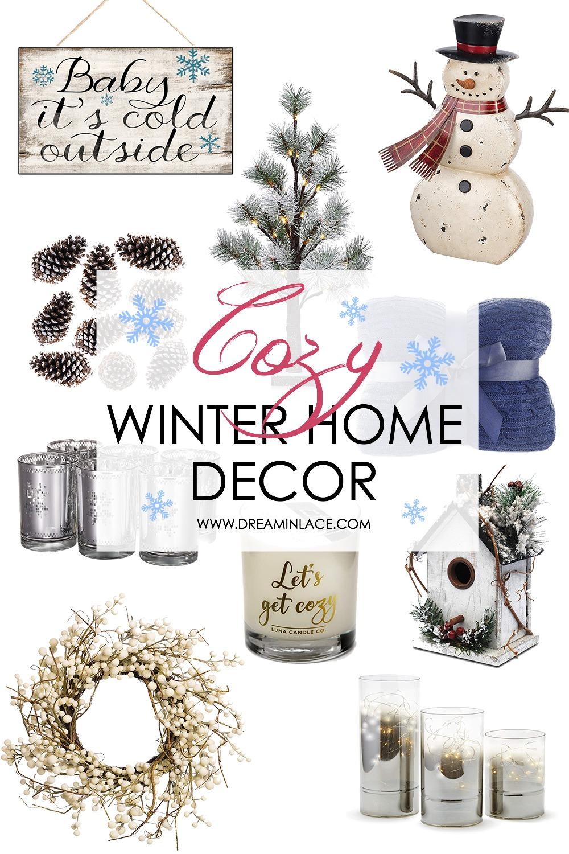 Cozy Winter Home Decor on Amazon to Lift Your Spirits I DreaminLace.com #HomeDecor #WinterDecor #CozyDecor #Cozy