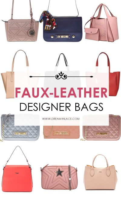 Faux-Leather Designer Bags
