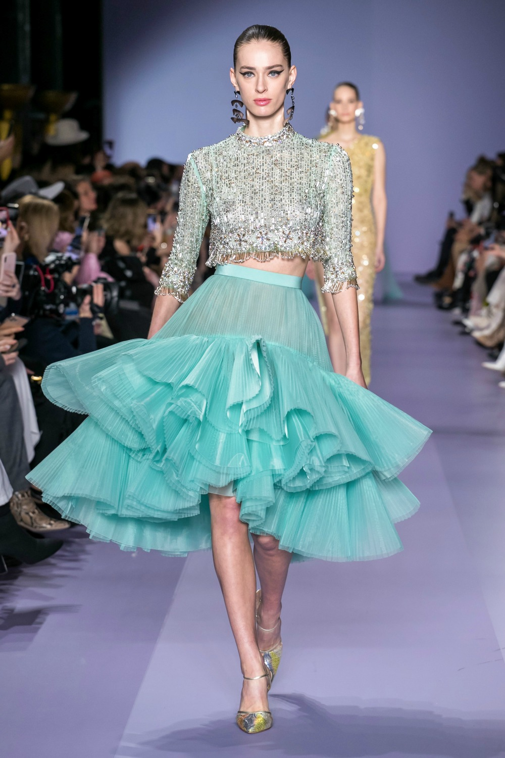 2020 Georges Hobeika Spring Couture Collection Runway I Paris Fashion Week