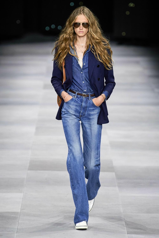 Spring 2020 Trends I Denim on the Celine Runway at Paris Fashion Week