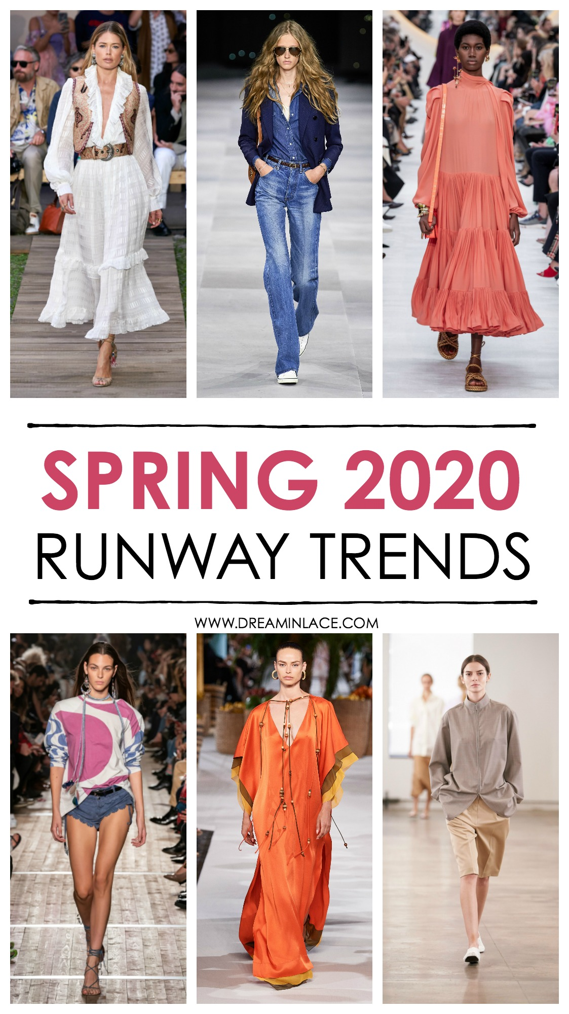 Spring 2020 Trends Straight Off the Runway I DreaminLace.com
