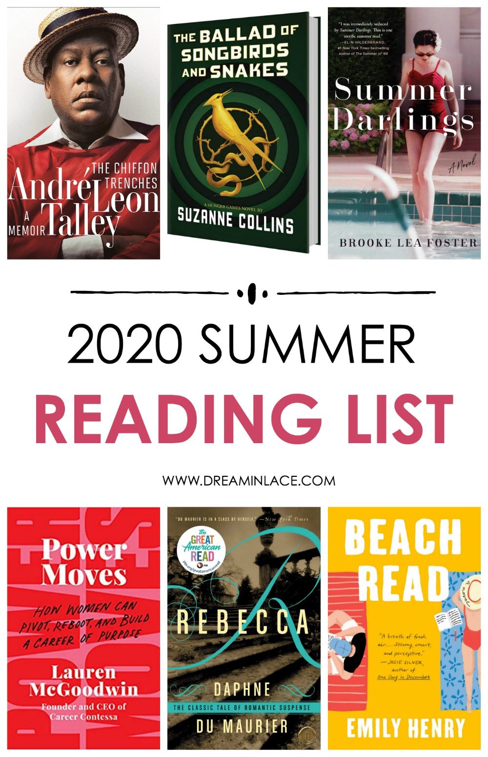 2020 Summer Reading List I Dreaminlace.com