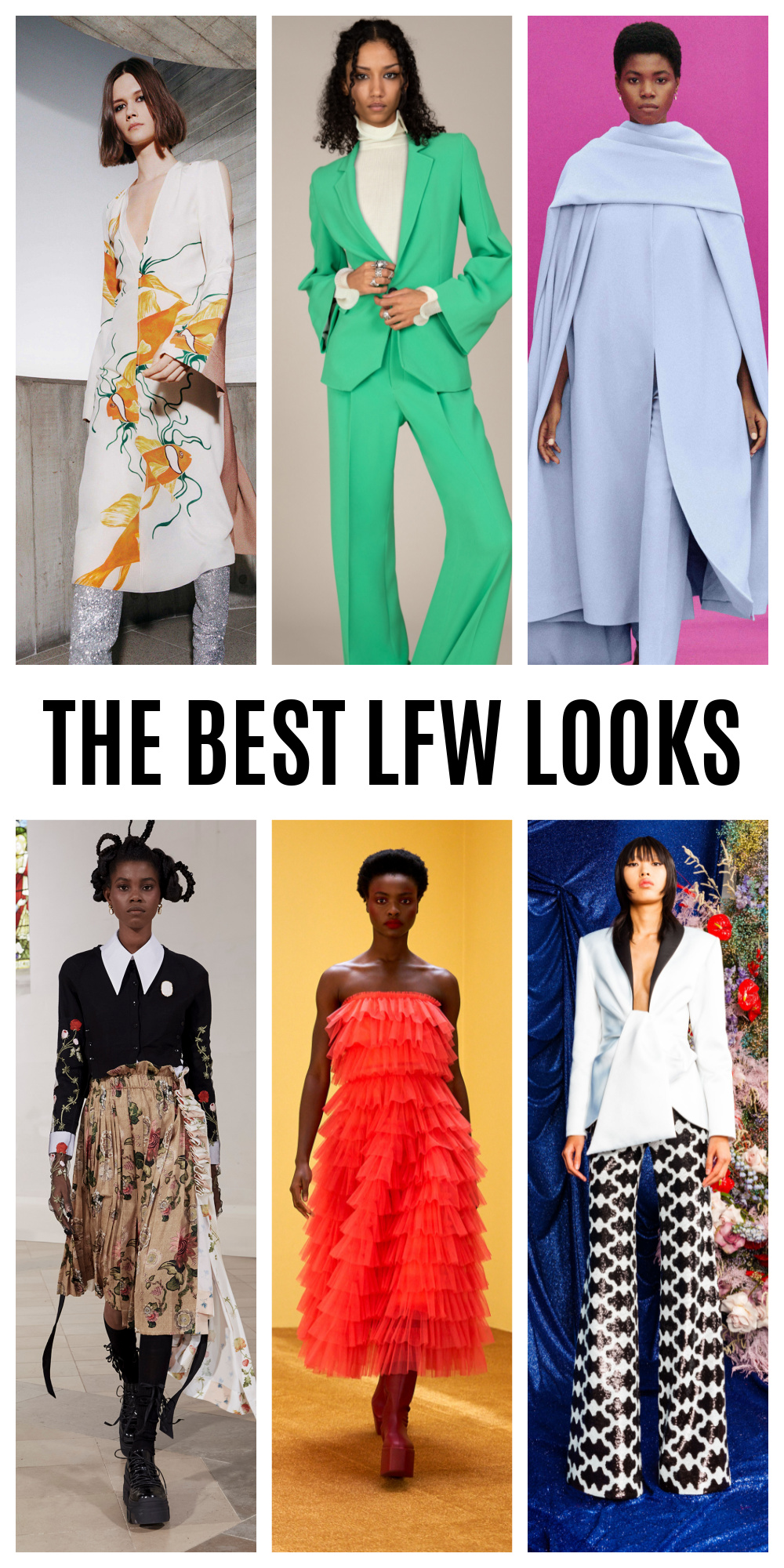 From Roland Mouret to Molly Goddard, meet the best LFW looks of the Fall 2021 season #fashionblog #fashionable #womensfashion