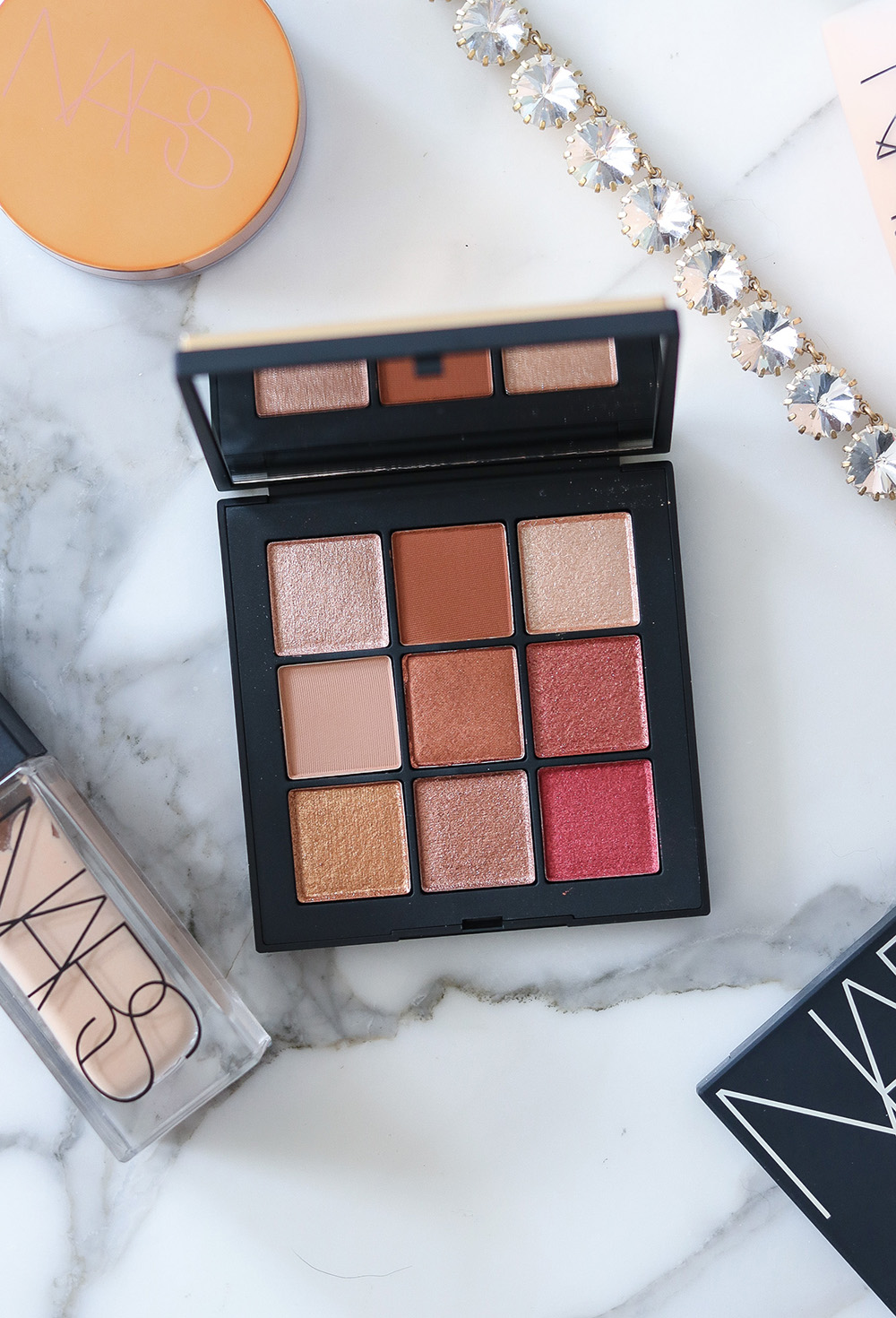 NARS Summer Solstice Eyeshadow Palette and Cream Bronzer Review I DreaminLace.com #beautyproducts #makeuplover #Makeupaddict #NARS