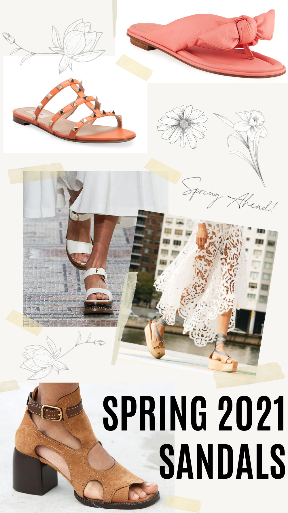 Best Spring 2021 Sandals I Valentino, Ulla Johnson, Chloe and More! #springstyle #fashionstyle #fashionista