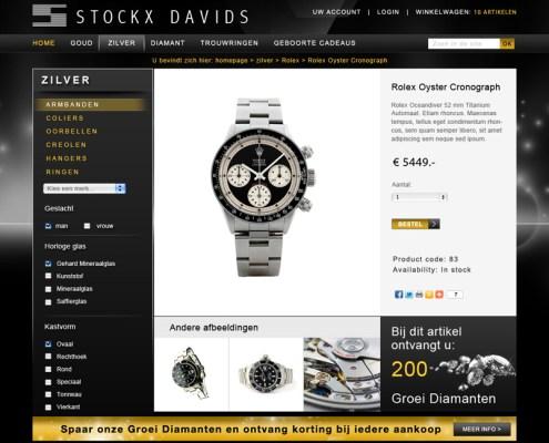 Magento webshop ontwerp juwelier Stockx Davids detailweergave