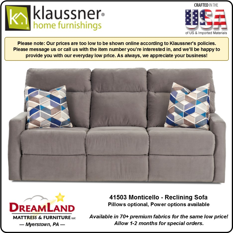 Reclining Sofa 41503 Monticello