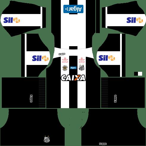 Kit santos dls17 uniforme casa 16-17
