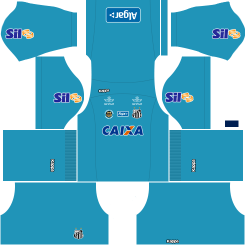 kit santos dls17 uniforme goleiro casa 16-17
