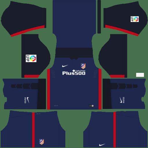 kit Atletico Madrid dls17 uniforme fora de casa