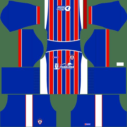 kit itabaiana dls17 uniforme casa