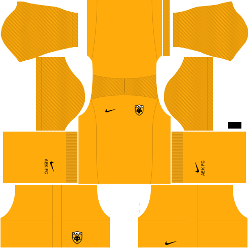 Kit AEK dls17 home Gk - uniforme goleiro casa 17-18