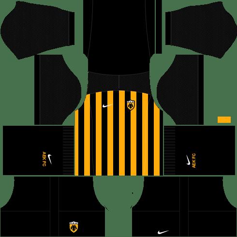 Kit AEK dls17 home - uniforme casa 17-18