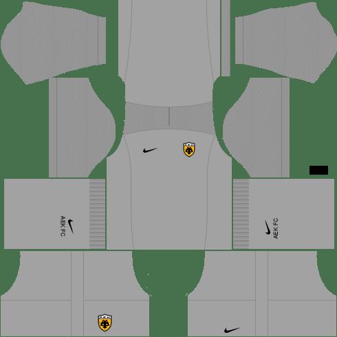 Kit AEK dls17 third GK - terceiro uniforme do goleiro 17-18