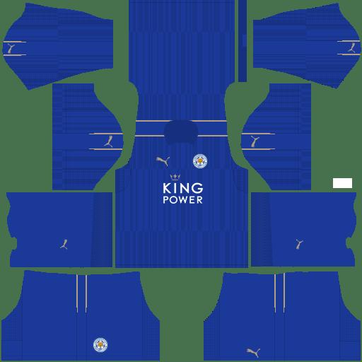 Kit Leicester City dls17 home - uniforme casa