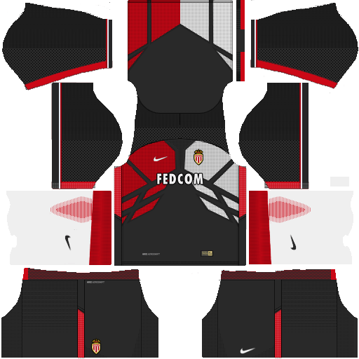 Kit Monaco dls17 away - uniforme fora de casa v2
