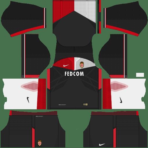 Kit Monaco dls17 away - uniforme fora de casa