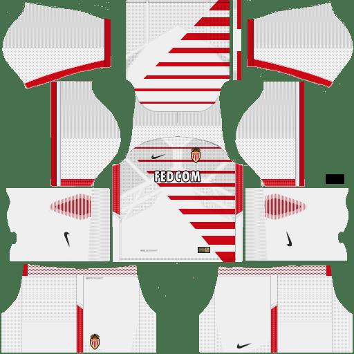 Kit Monaco dls17 home - uniforme casa v2