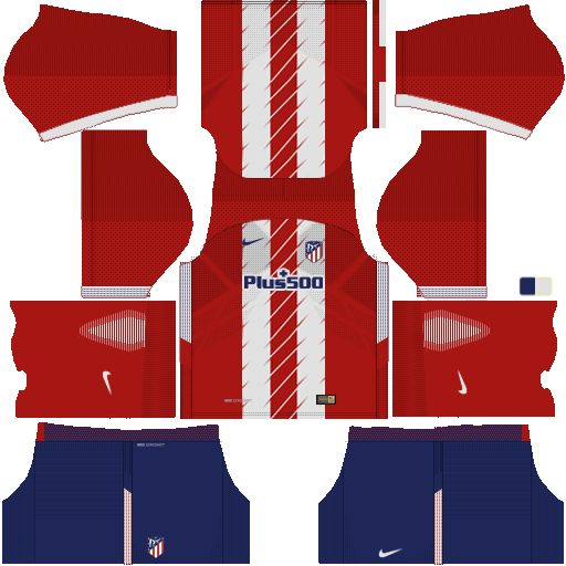 Kit atletico madrid DLS 20 home - uniforme casa 17-18