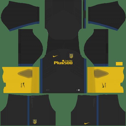 Kit atletico madrid DLS17 away - uniforme fora de casa 17-18
