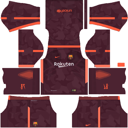 Kit barcelona fc dls17 nike kits 2017-2018 third-terceiro