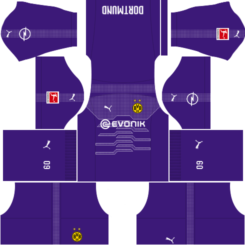 Kit-borussia-dortmund-dls-Home-Gk-uniforme-Goleiro-casa-18-19