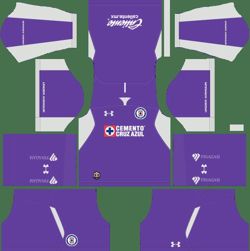 Kit-cruz-azul-dls-away-Gk-uniforme-goleiro-fora-de-casa-18-19