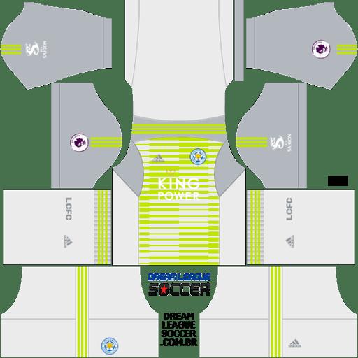 Kit-leicester-city-dls-away-Gk-uniforme-goleiro-fora-de-casa-18-19