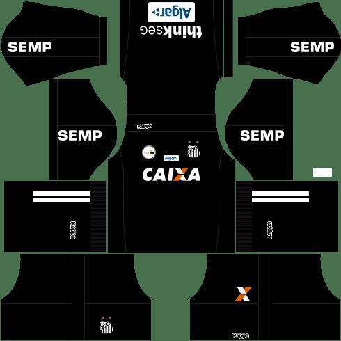 Kit santos dls17 away Gk - uniforme goleiro fora de casa 17-18
