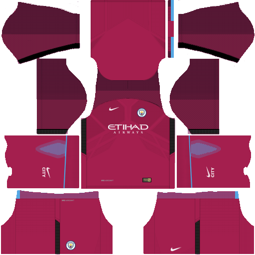 kit Manchester city dls17 away - uniforme fora de casa