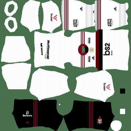 kit flamengo dls20 away uniforme fora de casa 19-20 2ª opção