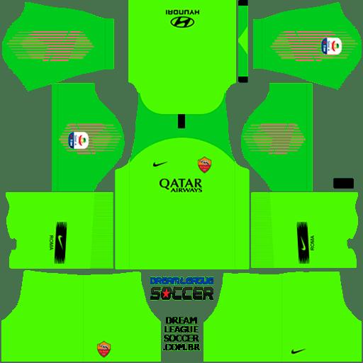 kit-roma-dls-home-Gk-uniforme-goleiro-casa-18-19