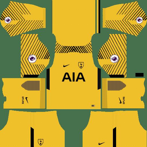 Tottenham Hotspur  Goalkeeper Home Kits DLS 2018