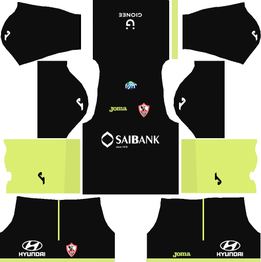 Al-Zamalek SC Goalkeeper Home Kits DLS 2018