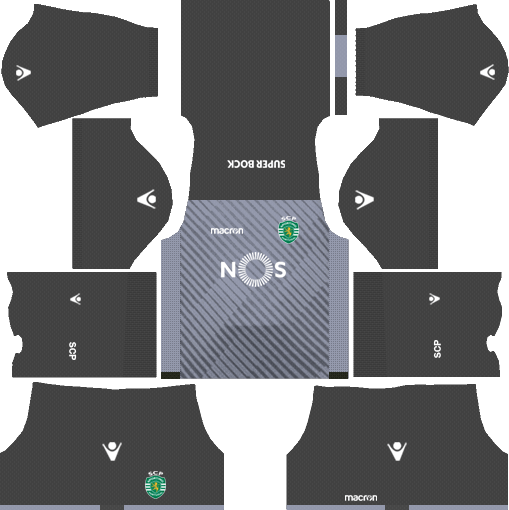 Sporting CP Goalkeeper Home Kits DLS 2018
