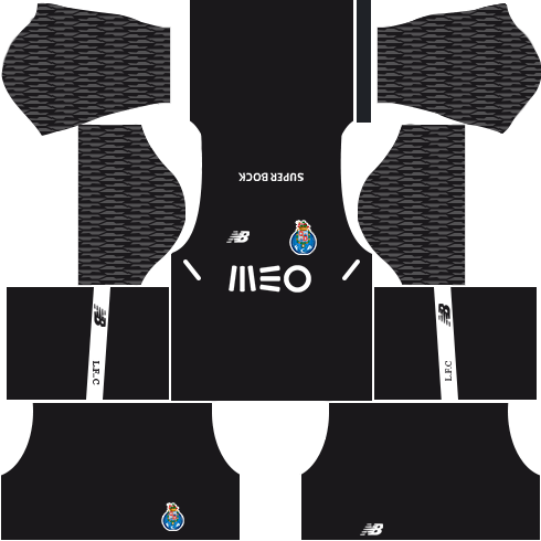 FC Porto Goalkeeper Home Kits DLS 2018