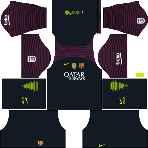Barcelona Goalkeeper Home kit DLS 2018