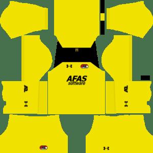 AZ Alkmaar Goalkeeper Home Kits DLS 2018