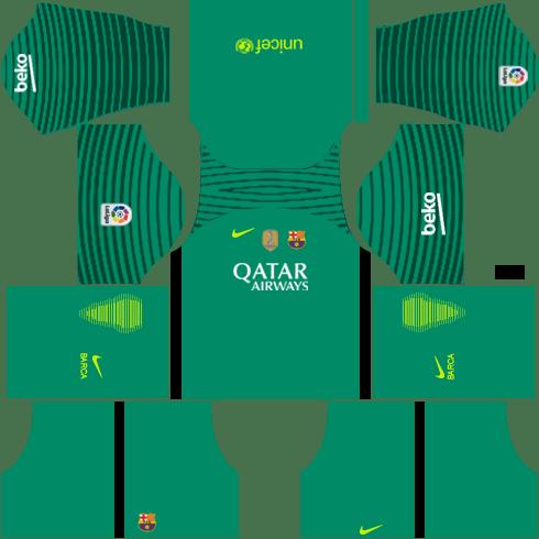 Barcelona GoalKeeper Away Kit DLS 2018