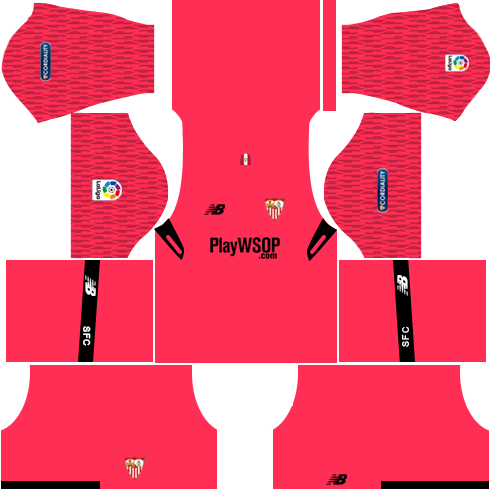 Sevilla FC Goalkeeper Home Kits DLS 2018
