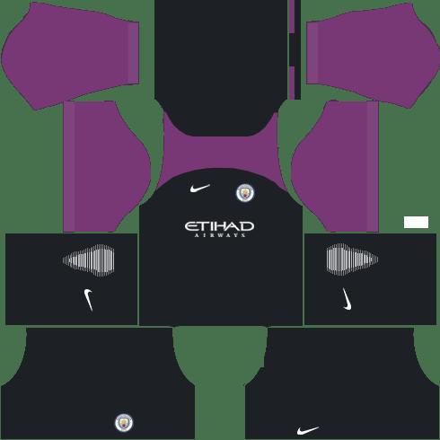 Manchester City Goalkeeper Third Kits DLS 2018